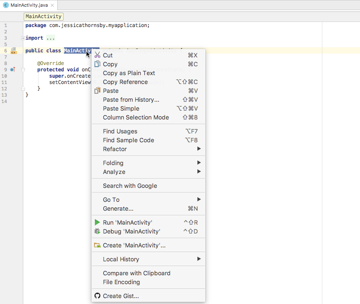 Control-click a class and select Refactor Modularize from the dropdown that appears
