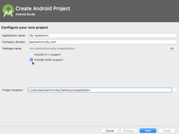 When youre creating a project you can select the Include Kotlin Support checkbox