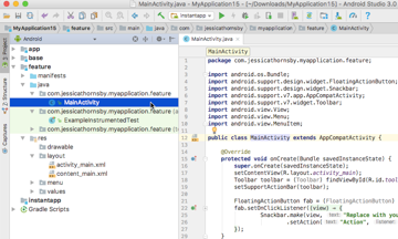 The projects feature module contains all the code and resources that are specific to this feature