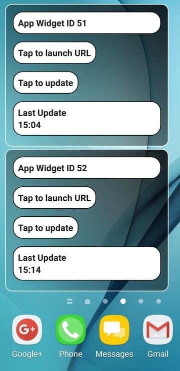 Create multiple instances of the same application widget