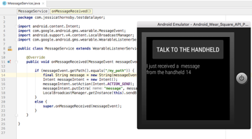 You can now exchange messages over the Data Layer using the MessageClient API