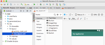Create a row_layoutxml file where well define the layout of each item in our RecylerView