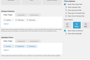 Customise your filters including their positioning and whether they appear as switches or in an expanded format
