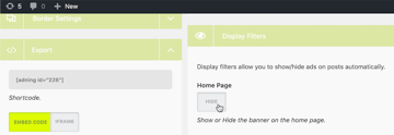 Ban this advert from your home page by toggling the ShowHide toggle