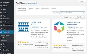 To install your chosen WordPress plugin click the Install Now button