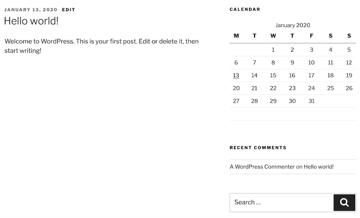 WordPress supports a range of widgets so you can add extra content and functionality to your website