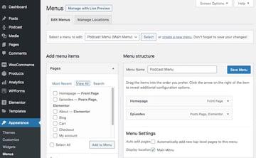 click Add to menu