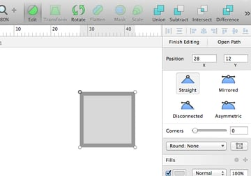 Editing vector shapes in Sketch
