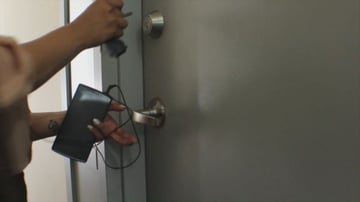 Unlocking apartment door