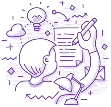 coming up with an idea illustration
