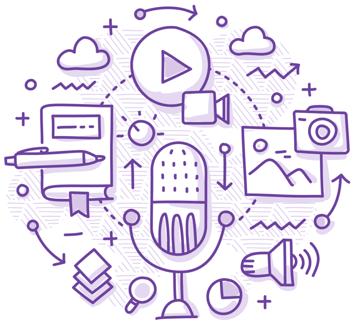 Video recording illustration