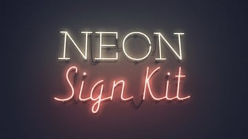 A neon sign that spells NEON Sign Kit