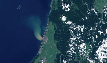 Outlet of the Mogami river Japan as seen from space