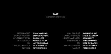 End credits example