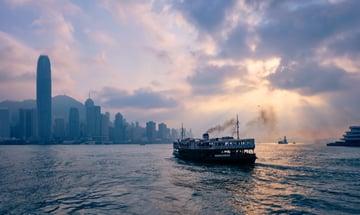 Ferry crossing to Hong Kong
