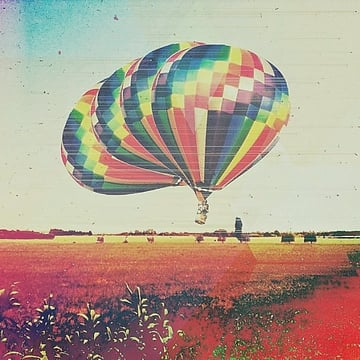 Air balloon taking off