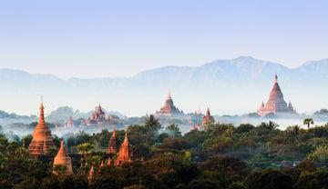 The Temples of Bagan Myanmar at dawn