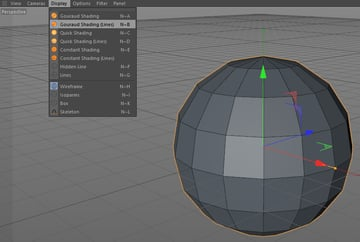 How to display Gouraud shading lines in Cinema 4D