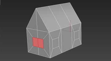 Image of using the scale tool and the bevel tool to create windows