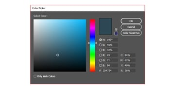 Grey colour to fill your rectangle with using the colour picker