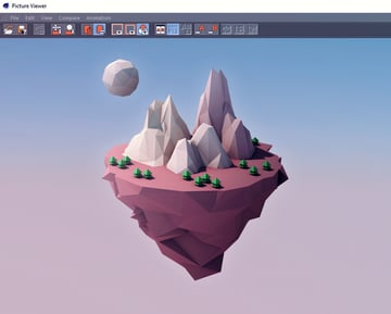 Final rendered image of the Floating Island