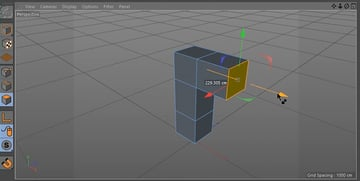 Extruding polygons in different directions