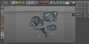 Grouping sphere objects together