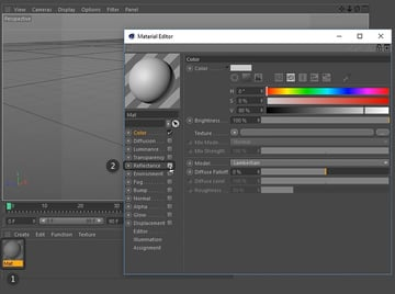 Untick Reflectance in the Material Editor