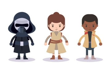 The final image of the Star Wars characters
