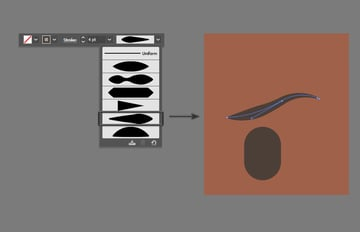 Creating the eyebrows using the Pen Tool