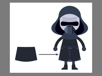 Creating Kylo Rens outfit using the Pen Tool
