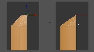 Weld the vertices to create the sword point