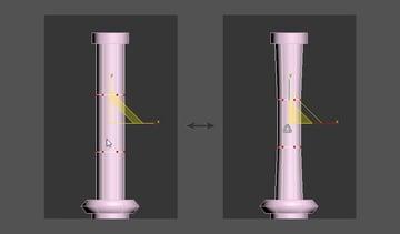 Adjust the shape using the Vertex Selection Tool