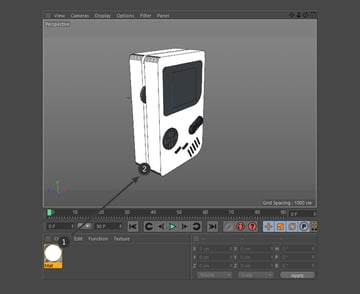 Drag and drop the material onto an object
