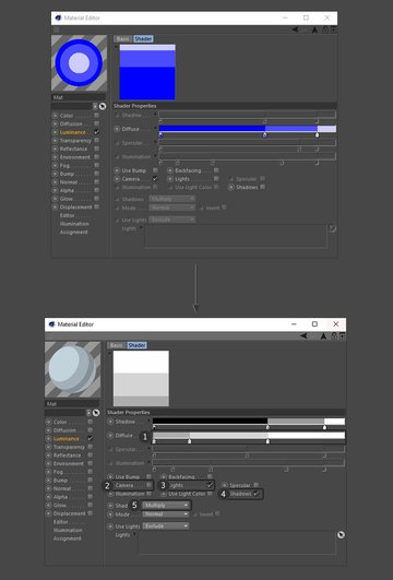 Editing the sketch and toon properties