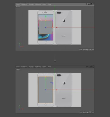 Resize the cube object using the Scale Tool