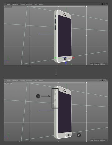 Apply new material to iPhone buttons