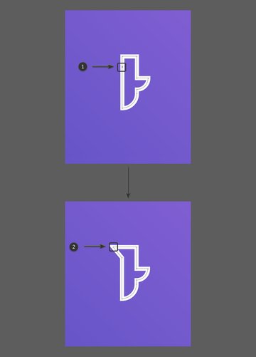 Add an anchor point and edit it