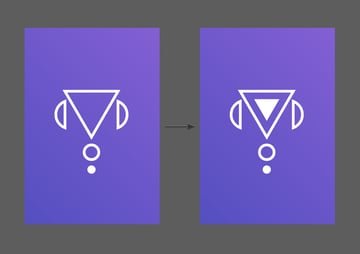 Create two triangles using the Polygon Tool