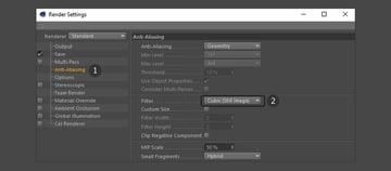 Adjust the anti-aliasing settings
