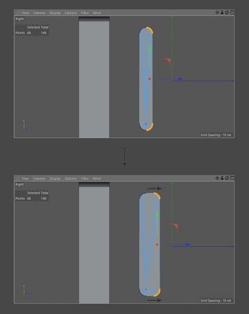 Adjust object shape