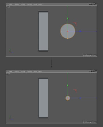 Scale the Cylinder object