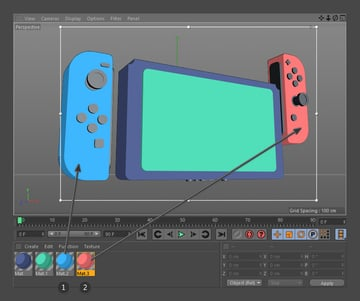 Apply new materials to Joy-Cons
