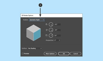 3D rotate options