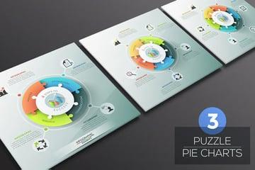 Puzzle Pie Chart Infographics