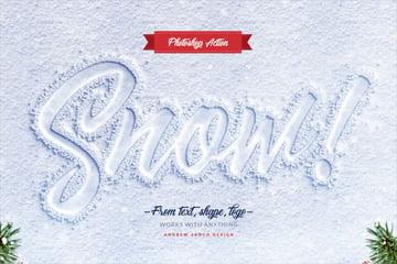 Snow Lettering - Photoshop Action