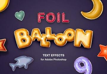 foil balloon text effects