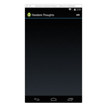 Random Thoughts page for Android