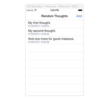 Listing thoughts on iOS