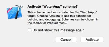 WatchAnimations - Activating Watch build scheme